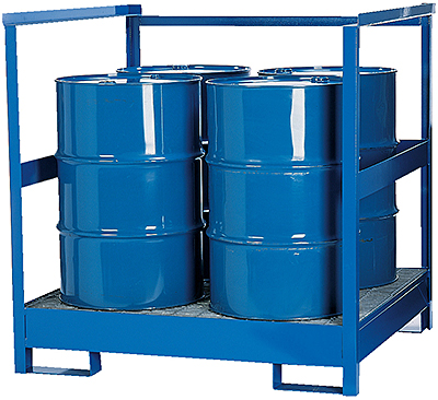 Vestil STP-4 Stackable Drum Transport Pallet with Side Rails