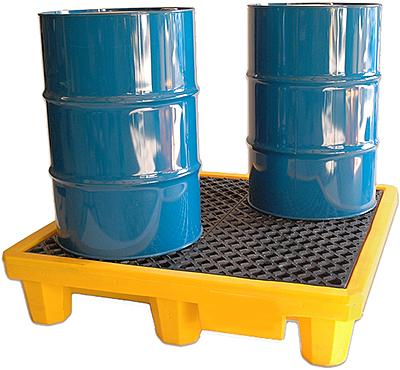 Vestil DR-4-UT Drum Spill Containment Pallet