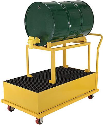 Vestil SRBC-HR-YL Drum Spill Containment Cart