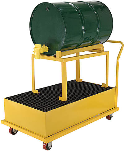 Vestil SRBC-HR-YL Drum Spill Containment Cart