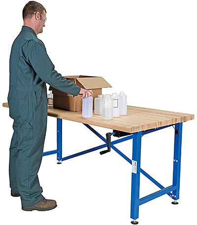 Vestil EWB-7236 Manual Height Adjustable Work Bench