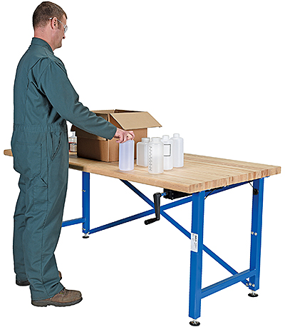 Vestil EWB-7236 Manual Height Adjustable Work Bench