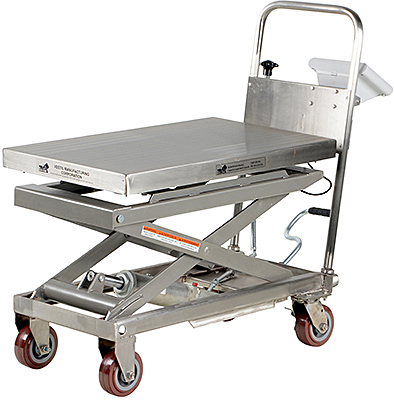 Vestil CART-500-SCL-PSS Lift Cart With Scale