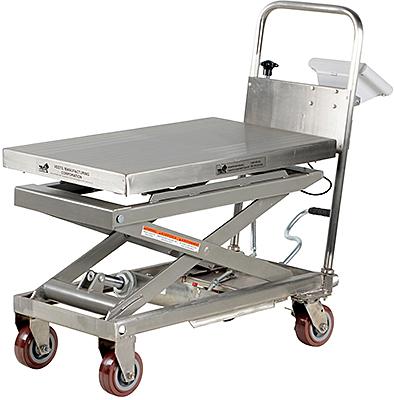 Vestil CART-500-SCL-PSS Lift Cart With Scale