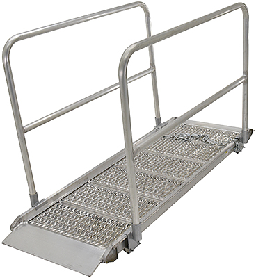 Vestil Aluminum Walk Ramp With Handrails