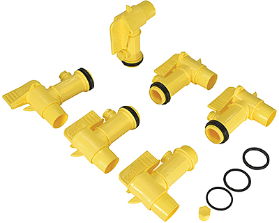Vestil JDFT-6PKG Polyethylene Drum Faucets