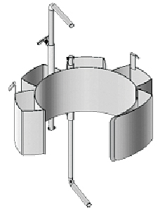 Small Diameter Drum Adaptors With Hold Down Brackets 55/30-19, 55/30-20.5, 55/30-22