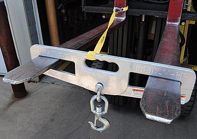 Optional Vestil LM-HP4-S Forklift Hook Plate
