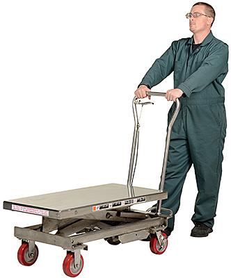 Vestil SSSC-1000 Stainless Steel Scissor Lift Cart