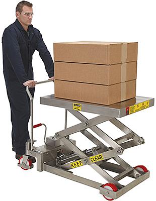 Vestil CART-800-D-SS Stainless Steel Lift Cart