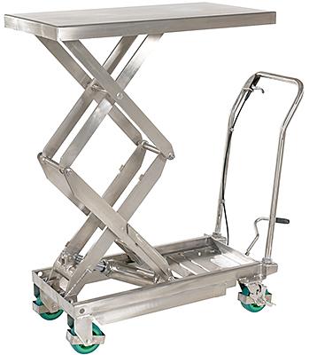 Vestil Stainless Steel Scissor Lift Cart