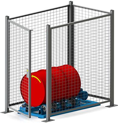 Morse GEK-1-5454-1 Gated Enclosure With Door Interlock