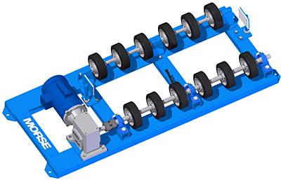 Optional Morse POLY-2-5154 55 Gallon Plastic Drum Roller