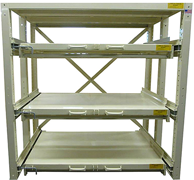 Rack Engineering Glide-Out 100 Shelving