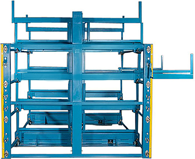 Crank Out Cantilever Racking