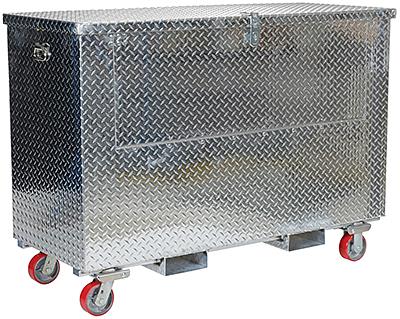 Vestil APTS-3660-CF-FD Aluminum Tool Box With Casters & Fork Pockets