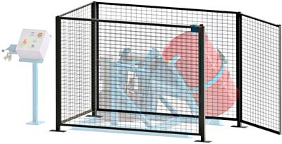 Morse GEK-310-3 Gated Enclosure With Gate Interlock