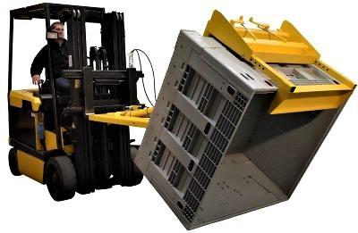 VESTIL CTD-H-TP-3000 Forklift Tote Dumper