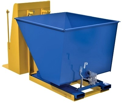 Vestil TCD-HLD-400-DLX Trash Can Dumper with Hopper