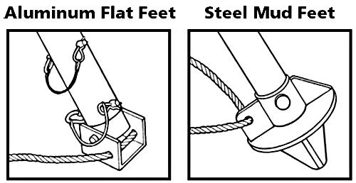 Foot Options for Tripod Hoist