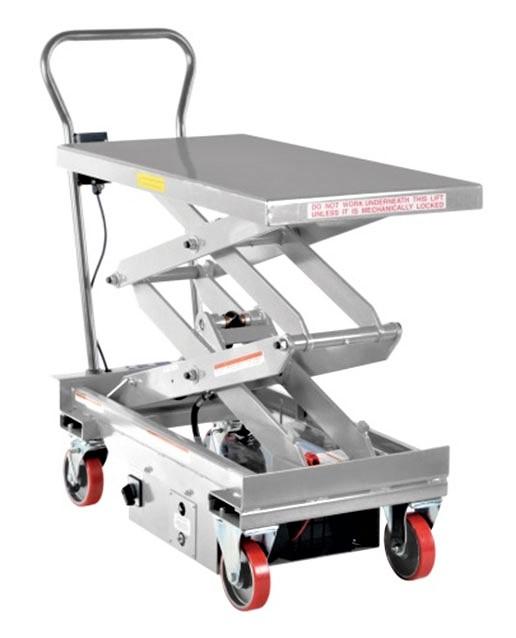 Vestil CART-1000D-DC-SS Stainless Steel Electric Lift Cart