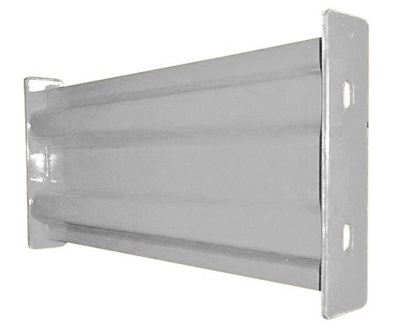 Vestil GR-F2R-DI Galvanized Steel Guard Rail