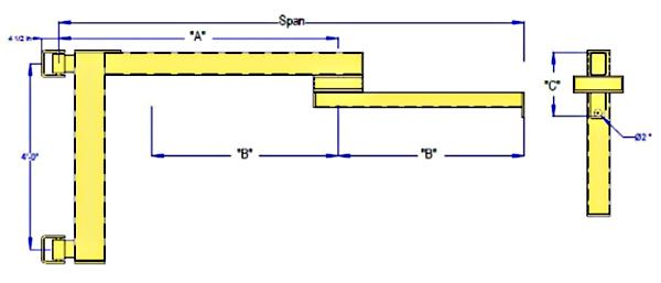 All Lift CW-Far Wall Mounted Articulating Jib Crane