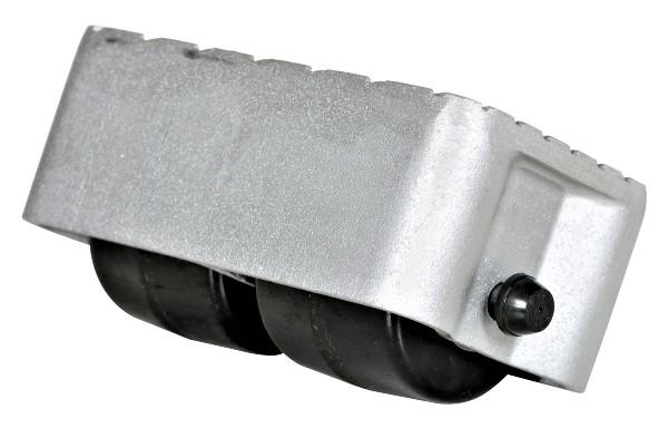 2-roller Cast Aluminum Caster
