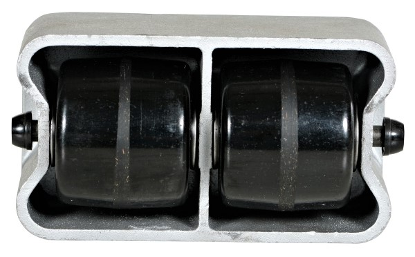Cast Aluminum Caster - 2 roller