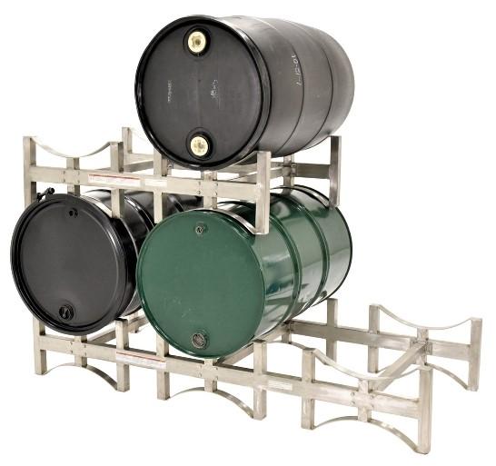DRUM-RACK Galvanized Steel. 2 units stacked