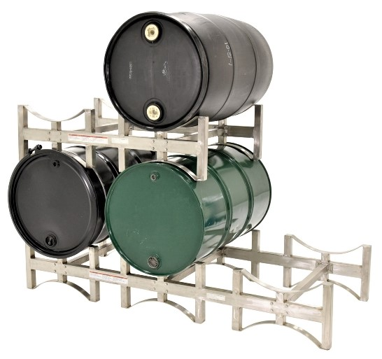 DRUM-RACK Stainless Steel. 2 units stacked