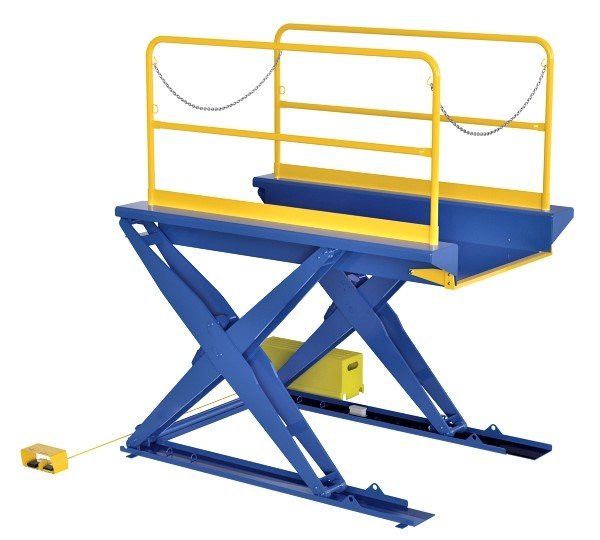 Vestil EHLTG Ground Lift Table with Handrails