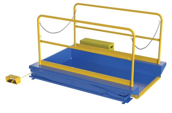 Ground Lift Table with Handrails