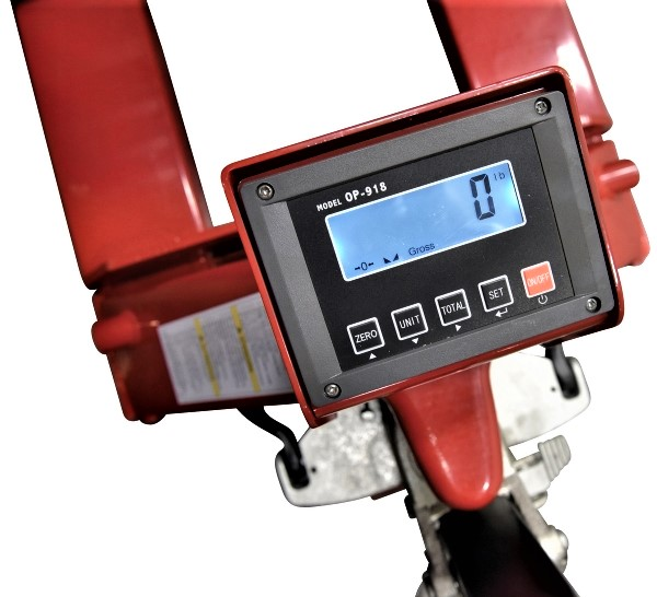 Vestil PM-2146-TL-SCL-LP Scale Close Up