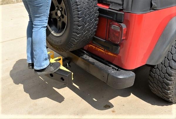 Rubber push bumper attaches to a 2 receiver