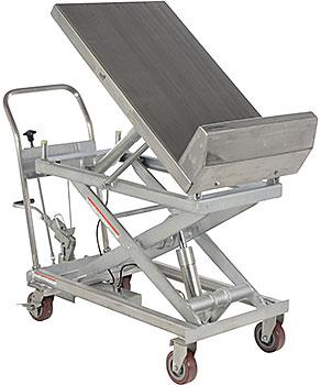 Vestil CART-1000-LT-PSS Partial Stainless Steel Lift & Tilt Cart