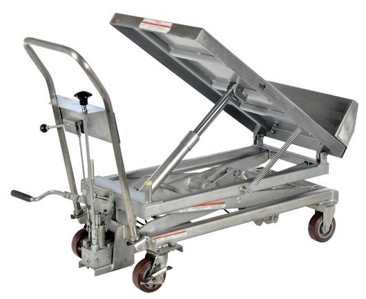 Partial Stainless Steel Lift & Tilt Cart