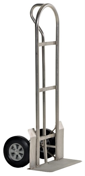 Stainless Steel Hand Truck with Hard Rubber Wheels