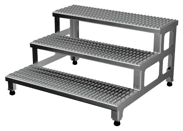 ASP-36-3-A Adjustable Aluminum Step Stand