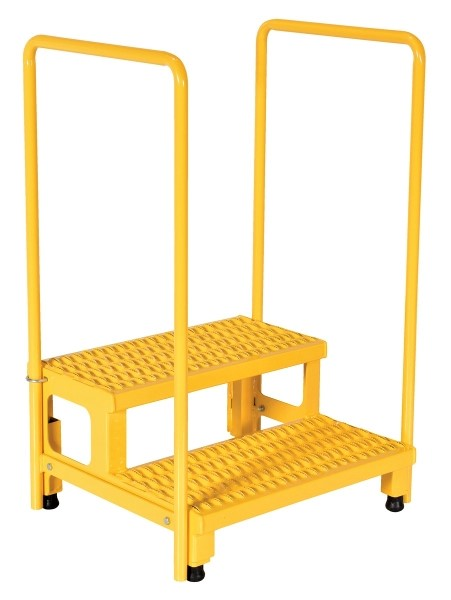 Vestil ASP-24-HR Step Stand with Handrails