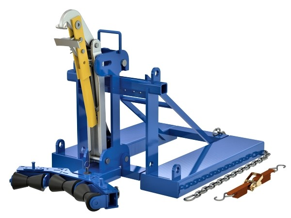 Vestil FMDL-1-LDS-R3 Automatic Eagle Beak Drum Handler with Rollers