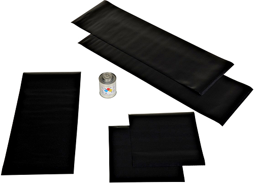 Vestil Dock Seal Repair kit - Six Piece Black Vinyl Patch Kit - Model D-KIT