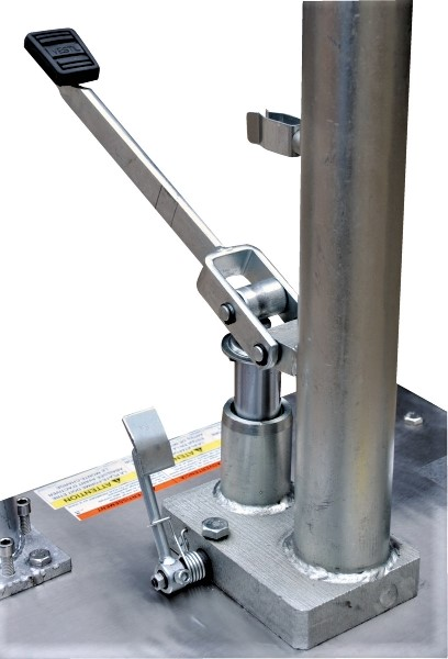Partial Stainless Steel Manual Hydraulic Post Table