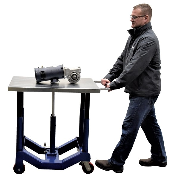 Vestil PT12-40 Low Profile Manual Hydraulic Post Table