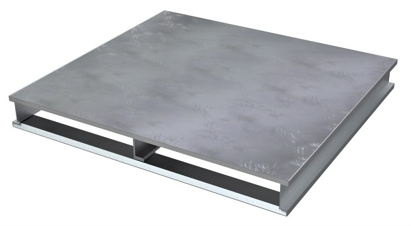 Vestil AP-ST-4848 Solid Top Aluminum Pallet