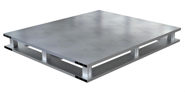 Vestil AP-ST-4048-4W Solid Top Aluminum Pallet - 4 Way Entry