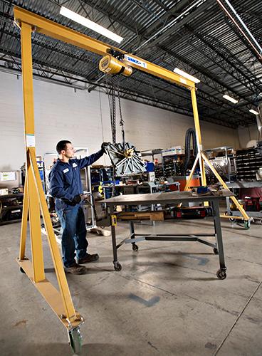 Spanco 1 Ton Steel Gantry Crane