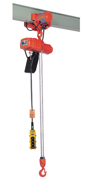 Elephant Alpha Electric Chain Hoist S-025 shown with MAS motorized trolley