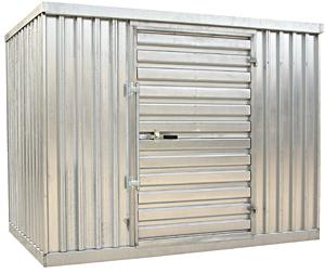 Vestil STOR-96-G-W-1RH Galvanized Storage Building