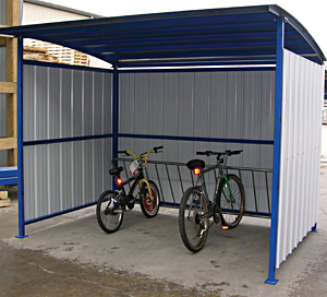 Vestil MDS-96-BK Bicycle Storage Shelter